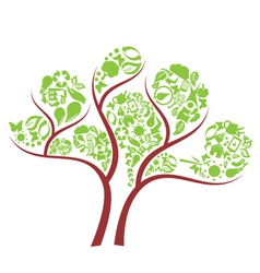 icon eco tree vector image vector image