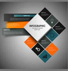 Info graphic with abstract design squares template vector