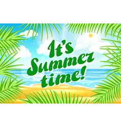 It s Summer Time Typographical Background With vector image