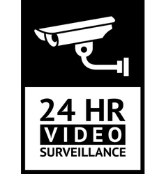 label CCTV symbol vector image