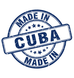 made in cuba blue grunge round stamp vector image vector image