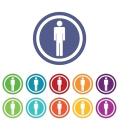Man signs colored set vector image