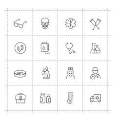 Medicine icons vector image vector image