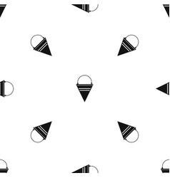Metal fire bucket pattern seamless black vector