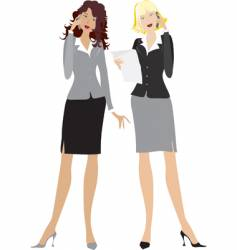 office girls vector image vector image