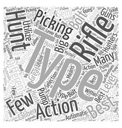 Picking the best rifle word cloud concept vector