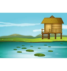 River Cottage vector image