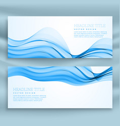 Set of blue banners template for business theme vector