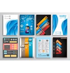 Set of flyer design infographics brochure designs vector