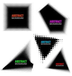 set of halftone design elements isolated on white vector image vector image