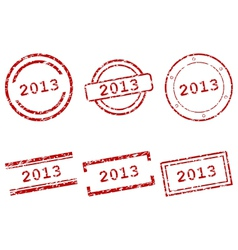 Stamps 2013 vector image vector image