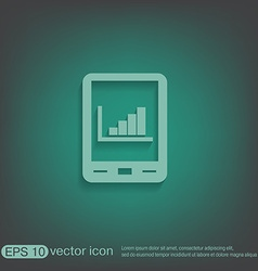 tablet pad with diagram vector image