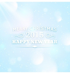 Typography for christmas and 2015 new year vector image vector image