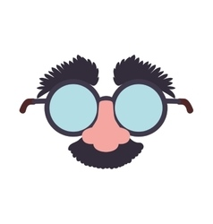 Cartoon glasses nose face icon graphic vector