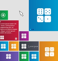 Dices icon sign buttons modern interface website vector