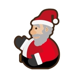 santa claus christmas character icon vector image