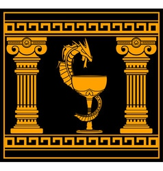 Ancient pharmacy symbol vector