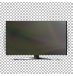 Screen lcd plasma isolated on checkered vector