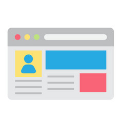 account flat icon social media and website vector image