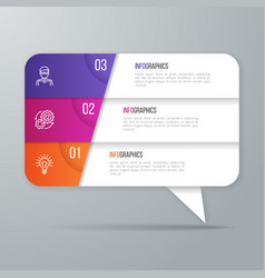 speech bubble shaped infographic design 3 options vector image