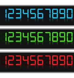 Glowing digital numbers vector