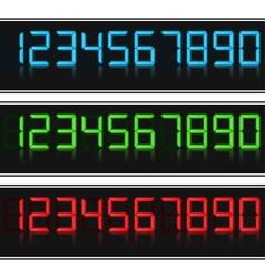 Glowing Digital Numbers vector image