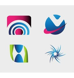 Unusual logo set graphic design editable for your vector