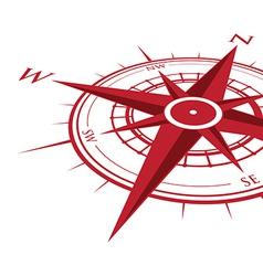 Red compass vector