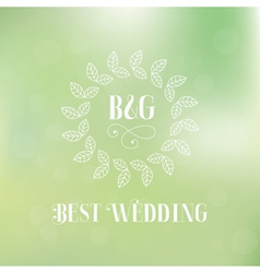 Best wedding label vector