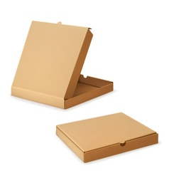 Cardboard box for pizza vector