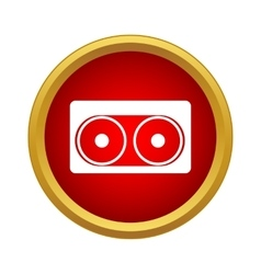 Audio cassette icon simple style vector
