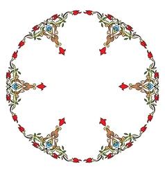 Antique ottoman turkish pattern design eleven vector