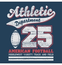 Athletic sport t-shirt graphics vector