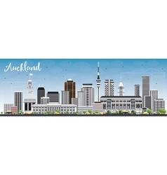 Auckland skyline with gray buildings vector