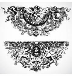baroque backgrounds vector image vector image