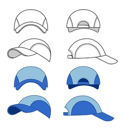Baseball tennis cap vector