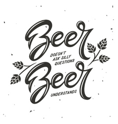 Beer related typography vintage vector