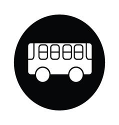Bus symbol icon vector