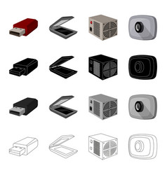 Computer equipment usb flash drive scanner power vector