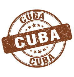 Cuba brown grunge round vintage rubber stamp vector