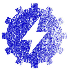 Electric energy gear textured icon vector