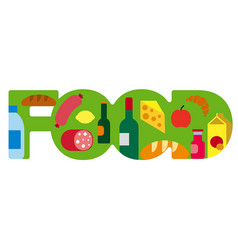 food grocery banner vector image vector image