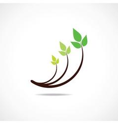 Green leaf logo design symbol vector image vector image