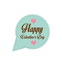happy valentines day card bubble hearts vector image