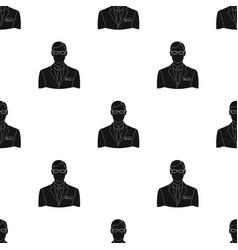 Male realtorrealtor single icon in black style vector