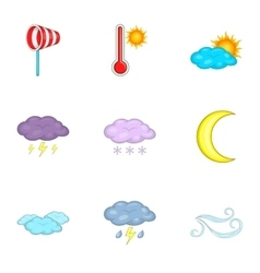 Meteorology template for app and web icons set vector