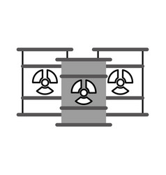 Nuclear barrels isolated icon vector
