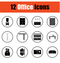 Office furniture icon set vector
