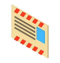 old post envelope icon isometric 3d style vector image