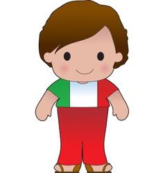 Poppy Italian Boy vector image vector image